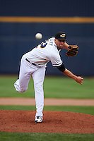 Akron RubberDucks pitcher Trey Haley (22) delivers a pitch during a game against the New Britain Rock Cats on May 21, 2015 at Canal Park in Akron, Ohio.  Akron defeated New Britain 4-2.  (Mike Janes/Four Seam Images)