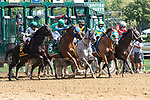 September 05, 2020: Start of the 3rd Race on New York Bred Stakes day at Saratoga Race Course in Saratoga Springs, New York. Rob Simmons/CSM