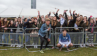 TAYTAY STARHZ of Boyband Franklin Lake  (rumoured to have snogged SAM SMITH recently after snogging Zoe Ball at Christmas ) during the SOCCER SIX Celebrity Football Event at the Queen Elizabeth Olympic Park, London, England on 26 March 2016. Photo by Andy Rowland.