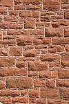1900's red sandstone building detail, Kayenta, Arizona, Navajo Reservation, Navajo Nation, U.S.A.,