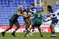 Beno Obano of Bath Rugby takes on the London Irish defence. Aviva Premiership match, between London Irish and Bath Rugby on November 19, 2017 at the Madejski Stadium in Reading, England. Photo by: Patrick Khachfe / Onside Images