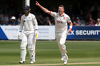 Peter Siddle of Essex celebrates taking the wicket of Gary Ballance during Essex CCC vs Yorkshire CCC, Specsavers County Championship Division 1 Cricket at The Cloudfm County Ground on 7th July 2019