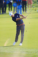 Alex Noren (Team Europe) on the 5th fairway during the Friday Foursomes at the Ryder Cup, Le Golf National, Ile-de-France, France. 28/09/2018.<br /> Picture Thos Caffrey / Golffile.ie<br /> <br /> All photo usage must carry mandatory copyright credit (© Golffile | Thos Caffrey)
