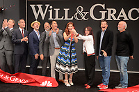 """LOS ANGELES - AUG 2:  Sean Hayes, Debra Messing, Megan Mullally, Eric McCormack, James Burrows at the """"Will & Grace"""" Start of Production Kick Off Event at the Universal Studios on August 2, 2017 in Universal City, CA"""