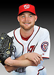 25 February 2011: Washington Nationals' pitcher Chad Gaudin poses for his Photo Day portrait at Space Coast Stadium in Viera, Florida. Mandatory Credit: Ed Wolfstein Photo