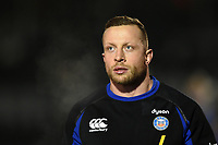 Max Lahiff of Bath Rugby looks on during the pre-match warm-up. Premiership Rugby Cup match, between Bath Rugby and Gloucester Rugby on February 3, 2019 at the Recreation Ground in Bath, England. Photo by: Patrick Khachfe / Onside Images