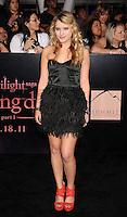 "LOS ANGELES, CA - NOVEMBER 14: Taylor Spreitler arrives at the Los Angeles premiere of ""The Twilight Saga: Breaking Dawn Part 1"" held at Nokia Theatre L.A. Live on November 14, 2011 in Los Angeles, California. /NortePhoto.com<br /> <br /> **CREDITO*OBLIGATORIO** *No*Venta*A*Terceros*<br /> *No*Sale*So*third*"