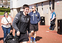 Ospreys' Sam Davies arrives at the stadium<br /> <br /> Photographer Simon King/CameraSport<br /> <br /> Guinness PRO12 Round 19 - Ospreys v Leinster Rugby - Saturday 8th April 2017 - Liberty Stadium - Swansea<br /> <br /> World Copyright &copy; 2017 CameraSport. All rights reserved. 43 Linden Ave. Countesthorpe. Leicester. England. LE8 5PG - Tel: +44 (0) 116 277 4147 - admin@camerasport.com - www.camerasport.com
