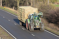Fendt tractor traveling on the A1<br /> &copy;Tim Scrivener Photographer 07850 303986<br />      ....Covering Agriculture In The UK....