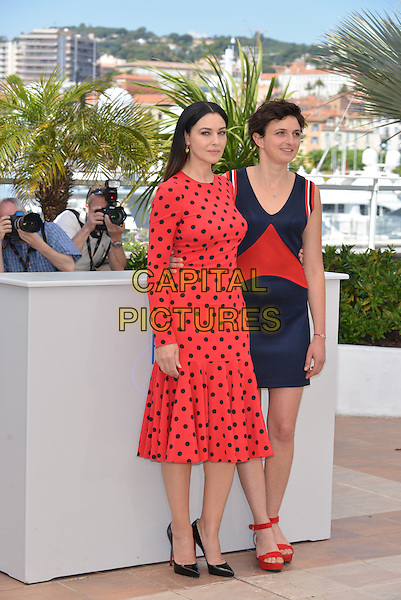 CANNES, FRANCE - MAY 18: Monica Bellucci; Alice Rohrwacher attend the 'La Meraviglie' photocall during the 67th Annual Cannes Film Festival on May 18, 2014 in Cannes, France.on May 18, 2014 in Cannes, France.<br /> CAP/PL<br /> &copy;Phil Loftus/Capital Pictures