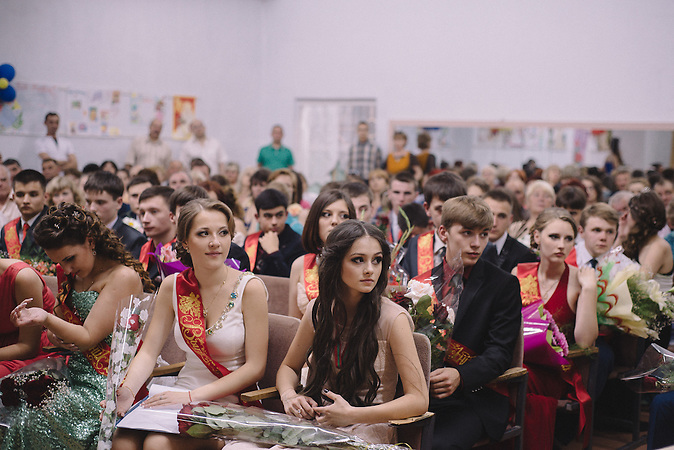 Prom manifestation at school N9 in Ribnita. Transnistria