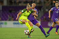 Orlando, FL - Thursday September 07, 2017: Merritt Mathias, Ali Krieger during a regular season National Women's Soccer League (NWSL) match between the Orlando Pride and the Seattle Reign FC at Orlando City Stadium.