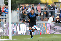 SAN JOSE, CA - AUGUST 24: Judson #93 of the San Jose Earthquakes celebrates scoring during a Major League Soccer (MLS) match between the San Jose Earthquakes and the Vancouver Whitecaps FC  on August 24, 2019 at Avaya Stadium in San Jose, California.