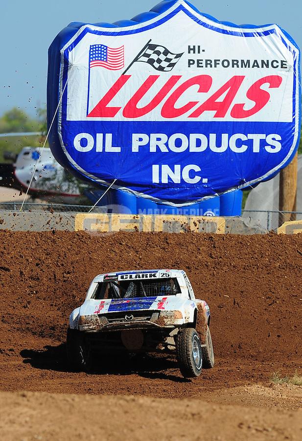 Apr 16, 2011; Surprise, AZ USA; LOORRS driver Patrick Clark (25) during round 3 at Speedworld Off Road Park. Mandatory Credit: Mark J. Rebilas-.