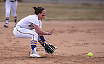 Western Nevada College Wildcats' Makaylee Jaussi makes a play against College of Southern Idaho at Edmonds Sports Complex, in Carson City, Nev., on Friday, Feb. 27, 2015. CSI won the opener 11-2.<br /> Photo by Cathleen Allison/Nevada Photo Source