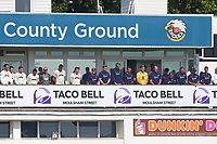 Players observe a one minute silence to remember Doug Insole and John Harrison during Essex CCC vs Somerset CCC, Specsavers County Championship Division 1 Cricket at The Cloudfm County Ground on 28th August 2017