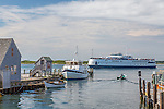 Ferry terminal, Woods Hole, Falmouth, Cape Cod, Massachusetts, USA