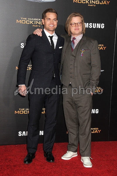 "16 November 2015 - Los Angeles, California - Wes Chatham, Elden Henson. ""The Hunger Games: Mockingjay - Part 2"" Los Angeles Premiere held at the Microsoft Theater. Photo Credit: Byron Purvis/AdMedia"