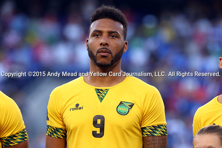 18 July 2015: Giles Barnes (JAM). The Jamaica Men's National Team played the Haiti Men's National Team at M&T Bank Stadium in Baltimore, Maryland in a 2015 CONCACAF Gold Cup quarterfinal match. Jamaica won the game 1-0.