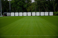 Thursday 02 July 2015<br /> Pictured: Exterior view of the pods <br /> Re: Swansea City FC install sleeping pods at their training ground to help the players stay focused between training sessions