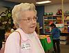 Books Between Kid volunteer Virginia Jones is a retired teacher who enjoys helping the organization distribute the books.