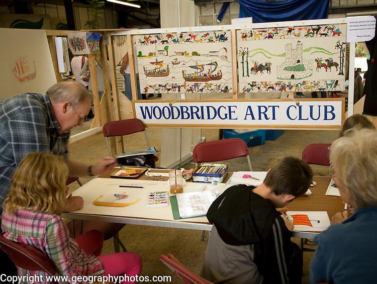 Children art club, Woodbridge, Suffolk
