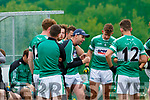 Listry manager Marc O'Sé revs up his players during the water break against Firies in their JFC clash in Kilcummin on Sunday