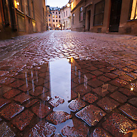 Cobble stone street, Gamla stan - old town, Stockholm, Sweden