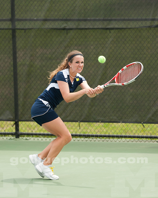 The University of Michigan women's tennis team beat No. 19 Texas A&M in the second round of the NCAA Tournament at the Varsity Tennis Center in Ann Arbor, Mich., on May, 12, 2012.