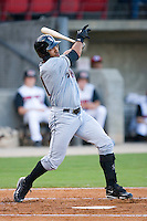 David Cook #21 of the Birmingham Barons follows through on his swing versus the Carolina Mudcats at Five County Stadium August 15, 2009 in Zebulon, North Carolina. (Photo by Brian Westerholt / Four Seam Images)