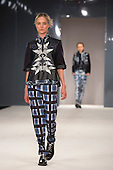 Collection by Chloe Sanders from Northumbria University Newcastle. Graduate Fashion Week 2014, Runway Show at the Old Truman Brewery in London, United Kingdom. Photo credit: Bettina Strenske