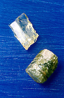 APATITE CRYSTALS<br />  Ca5(Cl,F)(PO4)3<br /> Hexagonal-hexagonal bipyramidal<br />  Calcium Fluo or Chloro Phosphate<br />  Bone has composition &amp; structure of Apatite