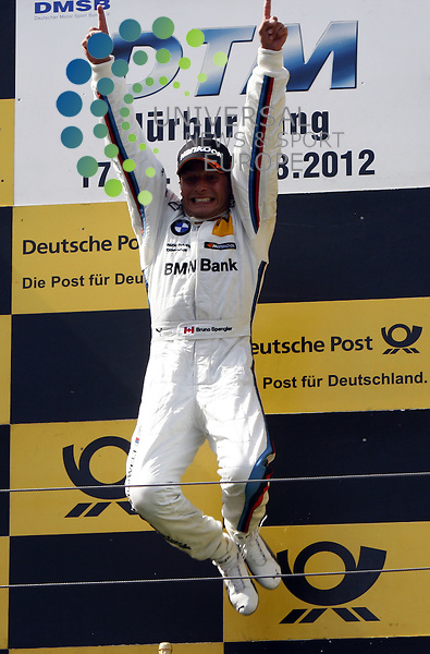 DTM 2012,06.Lauf Nürburgring,17.08.-19.08.12 .Podium: 1.Bruno Spengler (CDN#7) BMW Team Schnitzer..Hasan Bratic;Koblenzerstr.3;56412 Nentershausen;Tel.:0172-2733357;.hb-press-agency@t-online.de;http://www.uptodate-bildagentur.de;.Veroeffentlichung gem. AGB - Stand 09.2006; Foto ist Honorarpflichtig zzgl. 7% Ust.; Steuer-Nr.: 30 807 6032 6;Finanzamt Montabaur;  Nassauische Sparkasse Nentershausen; Konto 828017896, BLZ 510 500 15;SWIFT-BIC: NASS DE 55;IBAN: DE69 5105 0015 0828 0178 96; Belegexemplar erforderlich!.
