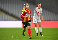 20191102 - LENS , FRANCE : Arras' Audrey Tabary pictured during the female soccer match between Arras Feminin and Lille OSC feminin, on the 8th matchday in the French Women's Ligue 2 – D2 at the Stade Bollaert Delelis stadium , Lens . Saturday 2 November 2019 PHOTO DAVID CATRY | SPORTPIX.BE