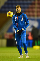 Blackpool's Will Aimson warms up<br /> <br /> Photographer Richard Martin-Roberts/CameraSport<br /> <br /> The EFL Sky Bet League One - Wigan Athletic v Blackpool - Tuesday 13th February 2018 - DW Stadium - Wigan<br /> <br /> World Copyright &not;&copy; 2018 CameraSport. All rights reserved. 43 Linden Ave. Countesthorpe. Leicester. England. LE8 5PG - Tel: +44 (0) 116 277 4147 - admin@camerasport.com - www.camerasport.com