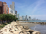 Colombia, Cartagena de Indias -- July 21, 2017 -- Bocagrande, fast growing, modern part of town with high-standard hotels, apartment buildings and popular beaches -- architecture, tourism -- Photo © HorstWagner.eu