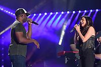 11 June 2017 - Nashville, Tennessee - Darius Rucker, Karen Fairchild. 2017 CMA Music Festival Nightly Concert held at Nissan Stadium. Photo Credit: Dara-Michelle Farr/AdMedia