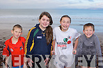 Wet and cold at the Fossa Rowing club annual New Year swim in Rossbeigh on Sunday was l-r: Colm Talbot, Shannon Tangney, Katie Talbot and Eoin Talbot.