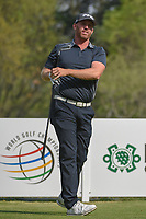 Adam Bland (AUS) watches his tee shot on 18 during round 2 of the World Golf Championships, Mexico, Club De Golf Chapultepec, Mexico City, Mexico. 3/2/2018.<br /> Picture: Golffile | Ken Murray<br /> <br /> <br /> All photo usage must carry mandatory copyright credit (&copy; Golffile | Ken Murray)