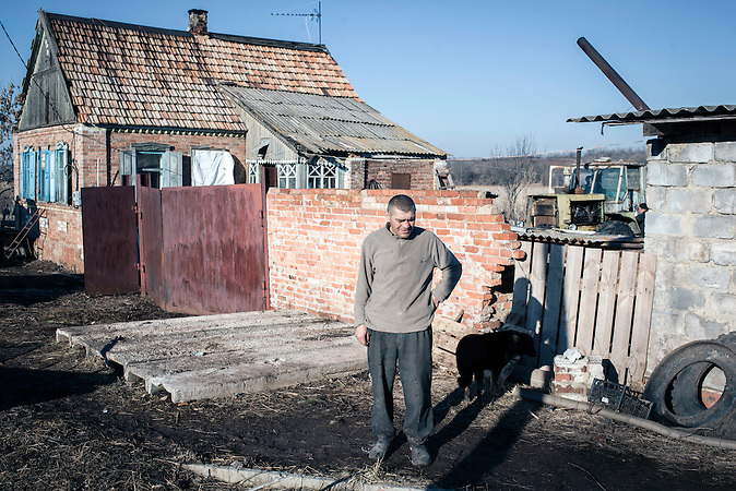 Bei Klinovoe nahe Debaltsewo nach dem Abkommen von Minsk und vor dem Waffenstillstand, 13.02.2015/ Klinovoe near Debaltseve after the  Minsk deal bevor the ceasefire_13.02.2014