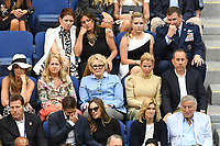 FLUSHING NY- SEPTEMBER 10: Savannah Guthrie, Debra Messing, Mariska Hargitay, Candice Bergen, Hilary Swank, Jessica Seinfeld,  Jerry Seinfeld, Susan Crow and Tony Bennett at the US Open Men's Final Championship match at the USTA Billie Jean King National Tennis Center on September 10, 2017 in Flushing, Queens. <br /> CAP/MPI/PAL<br /> &copy;PAL/MPI/Capital Pictures