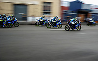Gixxer Cup. The 2017 Suzuki series Cemetery Circuit motorcycle racing at Cooks Gardens in Wanganui, New Zealand on Tuesday, 27 December 2017. Photo: Dave Lintott / lintottphoto.co.nz