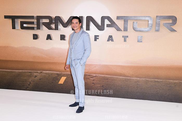 "LONDON, UK. October 17, 2019: Gabriel Luna at the ""Terminator: Dark Fate"" photocall, London.<br /> Picture: Steve Vas/Featureflash"