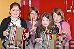 TALENT: Mikaela Foley, Emer OMahony, Emer Hurley and Orla OMahony playing tunes at the concert in Milltown Community Centre last Friday night..