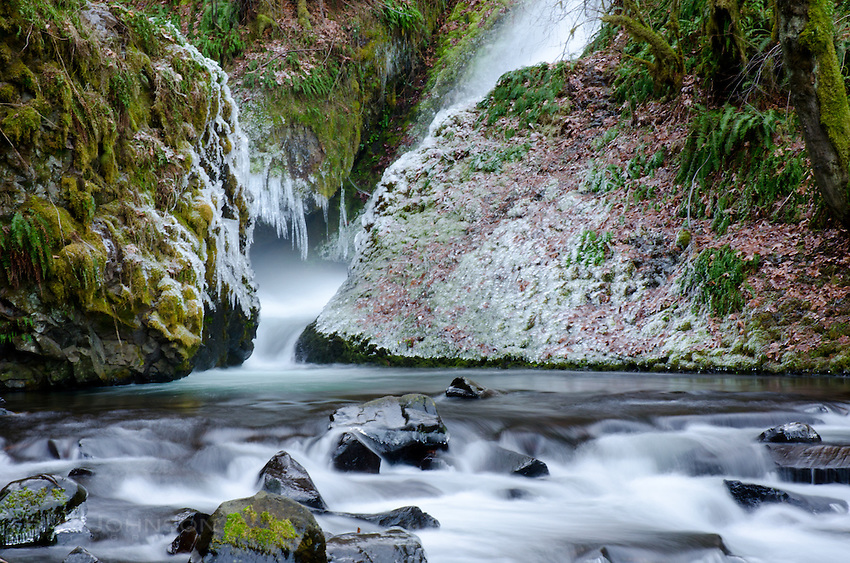Bridal Veil Falls and Ice in the Colombia River Gorge, OR