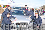 SOLD: The Kingdom Auto Point sales team who sold an Audi on Saturday sticking the sold signs on the car at the Kerry Home and Garden Show on the Dan Spring Road, Tralee were: Brian (managing director) and Denis Hanafin (Senior Sales Executive), John Dillon(sales Executive),Jerry Sullivan(sales manager) and Chris Flannery( Service manager) .   Copyright Kerry's Eye 2008
