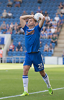 Ryan Camplin of Colchester United in action during Colchester United vs Northampton Town, Sky Bet EFL League 2 Football at the JobServe Community Stadium on 24th August 2019