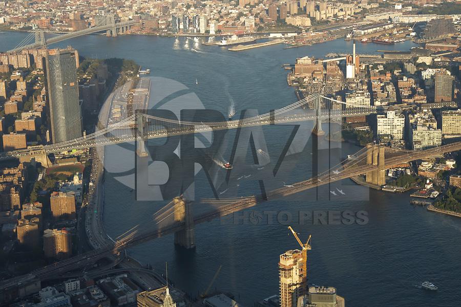 NOVA YORK, EUA, 17.09.2018 - CIDADE-NOVA YORK - Vista aerea Manhattan Bridge e Brooklyn Bridge na cidade de Nova York nos Estados Unidos (Foto: Vanessa Carvalho/Brazil Photo Press)