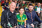 Pictured at the Kerry v Clare football championship semi-final held at Fitzgerald Stadium, Killarney on Sunday last were l-r: Gerard Brosnan (Castleisland), Conor Lenox (Cork) and Denis Brosnan (Castleisland).