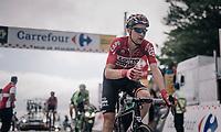 Tim Wellens (BEL/Lotto-Soudal) about to grab a last bidon up the Mur de Péguère (Cat1/1375m/9.3km/7.9%)<br /> <br /> 104th Tour de France 2017<br /> Stage 13 - Saint-Girons › Foix (100km)